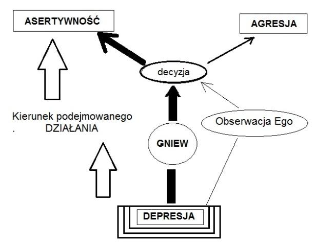 Wykres 10.15b Mind OS Przykład z Mapy Gniewu - kierunek podejmowanego działania
