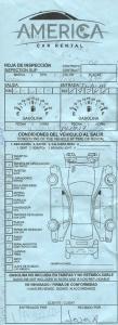 papier opisujący stan samochodu
